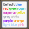 Alternative \c[x] text colors
